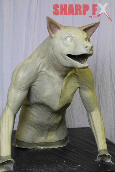 Werewolf-Finished-sculpture