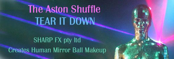 Sharp FX creates mirror ball makeup for The Aston Shuffle Music Video